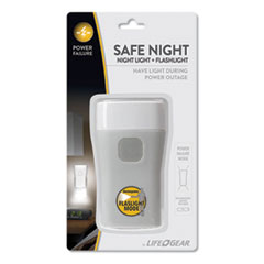 Safe Night Nightlight + Flashlight, 1 Rechargeable Lithium-Ion Battery (Included), Gray