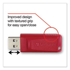 Store 'n' Go USB 2.0 Flash Drive, 64GB, Red