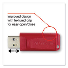 Store 'n' Go USB Flash Drive, 128 GB, Red