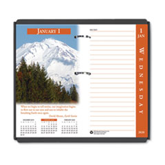 Earthscapes Desk Calendar Refill, 3 1/2 x 6, 2019