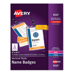 BADGE,VERTICAL,25/PK,WH