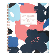 Badge Floral Academic Planner, 11 x 8 1/2, 2019-2020