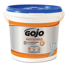 FAST TOWELS Hand Cleaning Towels, 7.75 x 11, 130/Bucket, 4 Buckets/Carton