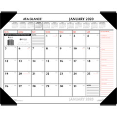 Two-Color Monthly Desk Pad Calendar, 22 x 17, 2019