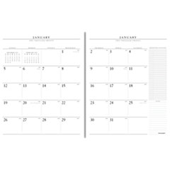 Executive Monthly Padfolio Refill, 9 x 11, White, 2019