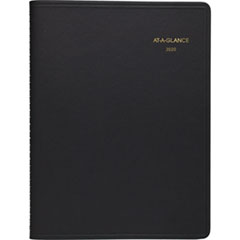 Weekly Appointment Book, 8 1/4 x 10 7/8, Black, 2019