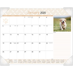 Puppies Monthly Desk Pad Calendar, 22 x 17, 2019