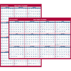 Erasable Vertical/Horizontal Wall Planner, 32 x 48, Blue/Red, 2019