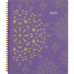 Vienna Weekly/Monthly Appointment Book, 8 1/2 x 11, Purple, 2019