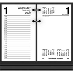 Recycled Desk Calendar Refill, 3 1/2 x 6, White, 2019