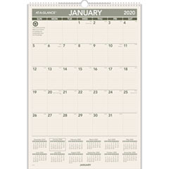 Recycled Wall Calendar, 15 1/2 x 22 3/4, 2019