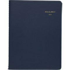 Monthly Planner, 8 7/8 x 11, Navy, 2019