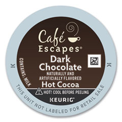 Café Escapes Dark Chocolate Hot Cocoa K-Cups, 24/Box