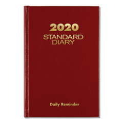 Standard Diary Recycled Daily Reminder, Red, 7 1/2 x 5 1/8, 2020