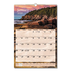 Scenic Monthly Wall Calendar, 15 1/2 x 22 3/4, 2020
