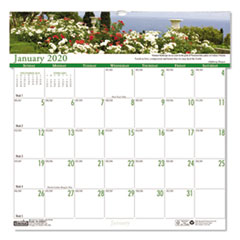 Recycled Gardens of the World Monthly Wall Calendar, 12 x 12, 2020