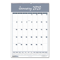 Recycled Bar Harbor Wirebound Monthly Wall Calendar, 15 1/2 x 22, 2019