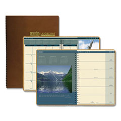 Recycled Landscapes Weekly/Monthly Planner, 11 x 8.5, Brown, 2021
