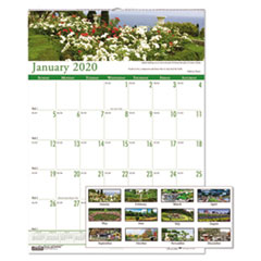 Recycled Gardens of the World Monthly Wall Calendar, 15 1/2 x 22, 2019