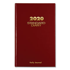 At-A-Glance Standard Diary Recycled Daily Journal, Red, 12 1/8 X 7 11/16, 2020