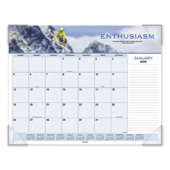 Motivational Panoramic Desk Pad, 22 x 17, Motivational, 2020