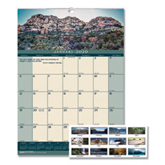Recycled Landscapes Monthly Wall Calendar, 12 x 16 1/2, 2020