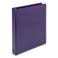 "Earth's Choice Biobased Economy Round Ring View Binders, 3 Rings, 1"" Capacity, 11 x 8.5, Purple"