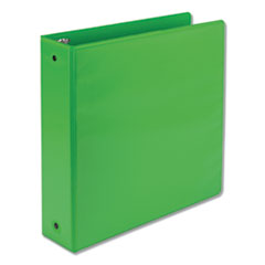 "Earth's Choice Biobased Economy Round Ring View Binders, 3 Rings, 2"" Capacity, 11 x 8.5, Lime"