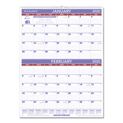 Two-Month Wall Calendar, 22 x 29, 2020