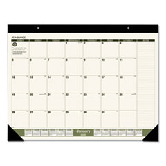 Recycled Monthly Desk Pad, 22 x 17, 2020