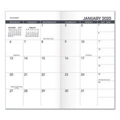 At-A-Glance Pocket Size Monthly Planner Refill, 6 1/8 X 3 1/2, White, 2020-2021