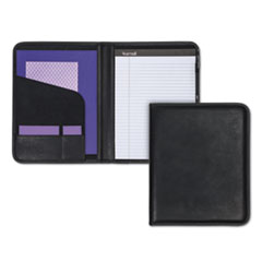 Samsill Professional Padfolio, Storage Pockets/Card Slots, Writing Pad, Black