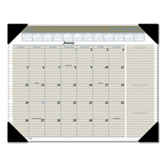 Executive Monthly Desk Pad Calendar, 22 x 17, Buff, 2020