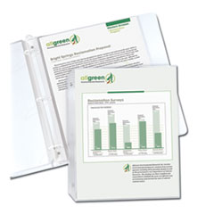 "Recycled Polypropylene Sheet Protectors, Reduced Glare, 2"", 11 x 8 1/2, 100/BX"