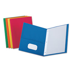Two-Pocket Portfolios with Tang Fasteners, 11 x 8 1/2, Assorted, 25/Box