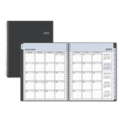 Passages Weekly/Monthly Wirebound Planner, Vertical Format, 11 x 8 1/2, Black Cover, 2020