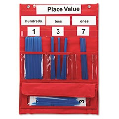 Counting and Place Value Pocket Chart with Cards, Straws, 13 x 17 3/4