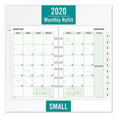Monthly Classic Refill, 8 1/2 x 5 1/2, White/Green, 2020