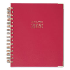 Harmony Weekly/Monthly Hardcover Planner, 6 7/8 x 8 3/4, Berry, 2020-2021