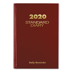 At-A-Glance Standard Diary Recycled Daily Reminder, Red, 8 1/4 X 5 3/4, 2020