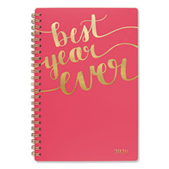Aspire Weekly/Monthly Planner, 8 x 4 7/8, Coral, 2020