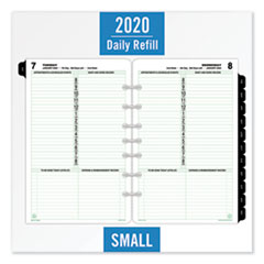 Dated One-Page-per-Day Organizer Refill, January-December, 8 1/2 x 5 1/2, 2020