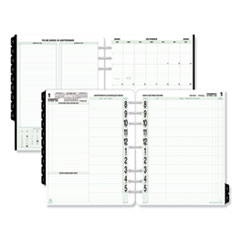 Original Two-Page-Per-Day Refill, 11 x 8 1/2, White/Green, 2020