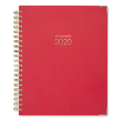 Harmony Weekly/Monthly Hardcover Planner, 11 x 8 1/2, Berry, 2020-2021