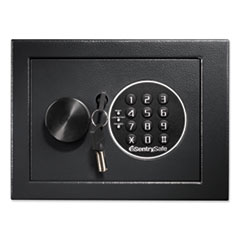 Electronic Security Safe, 0.14 cu ft, 9w x 6.6d x 6.6h, Black