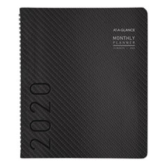 Contemporary Monthly Planner, Premium Paper, 11 x 8 7/8, Graphite Cover, 2020