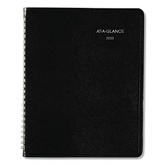 Open-Schedule Weekly Appointment Book, 8 3/4 x 6 7/8, Black, 2020