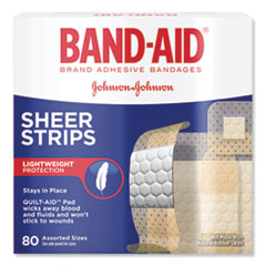 Tru-Stay Sheer Strips Adhesive Bandages, Assorted, 80/Box
