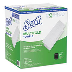 Scott Multi-Fold Paper Towels, 9.2 X 9.4, White, 250/Pack, 8 Packs/Carton