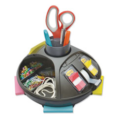 Rotary Self-Stick Notes Dispenser, Plastic, Rotary, 10